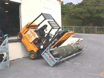 Play The wrong way to use a forklift